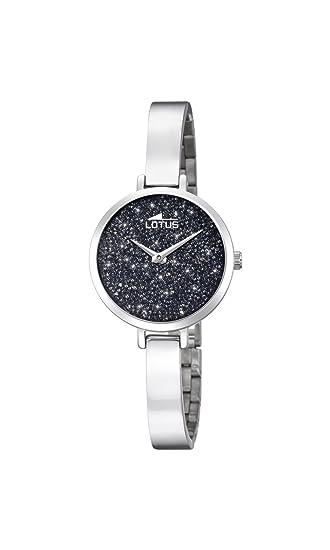 Lotus Watches Reloj Análogo clásico para Mujer de Cuarzo con Correa en Acero Inoxidable 18561/2: Amazon.es: Relojes
