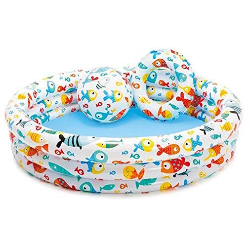 Piscina Per Bambini Gonfiabile Per Famiglie, Piscina Per Bambini, Piscina Per Bambini, Piscina Con Palla D'acqua, Piscina Con Sabbia, Regalo Per Bambini - 132 × 28 Cm