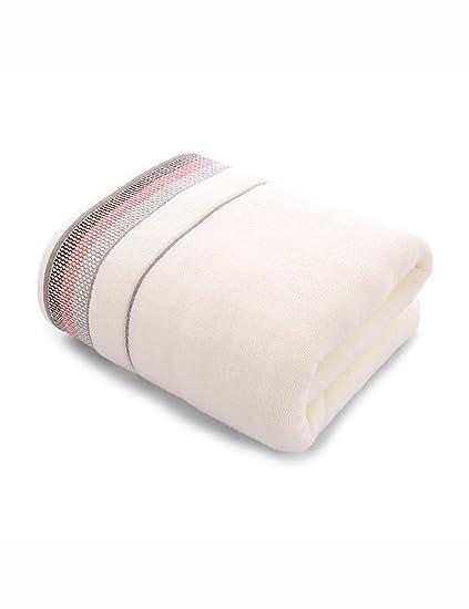 Toalla de baño suave- Toalla de algodón simple absorbente toallas suaves grandes masculina y femenina