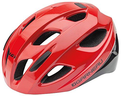 Louis Garneau Asset Bike Helmet, Lightweight, Ventilated, CPSC Safety Certified Cycling Helmet for Adults, Red/Black, ()