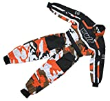 Wulfsport Kids Childs Race Suit Motocross MX Karting Quad Pit Dirt Bike Go Kart (Orange, Junior Medium 7-8 Years)