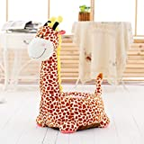 D&L Kids Giraffe Sofa Stool,Creative Cute Animals Lazy Seat Chair Upholstered Shoe Stool-F L70xW42cm