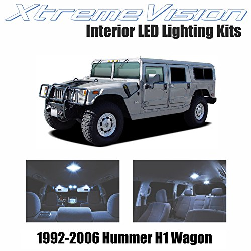 Hummer H1 (XtremeVision Hummer H1 Wagon 1992-2006 (14 Pieces) Cool White Premium Interior LED Kit Package + Installation Tool)