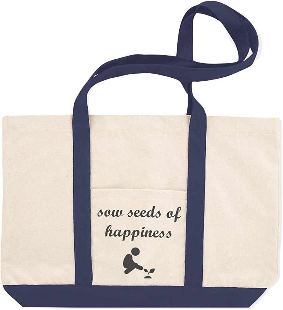 Canvas Shopping Tote Bag Sow Seeds of Happiness A Inspiration /& Motivation Happiness Beach for Women