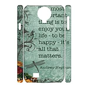 Audrey Hepburn Quotes Customized 3D Cover Case for SamSung Galaxy S4 I9500,custom phone case ygtg-780197