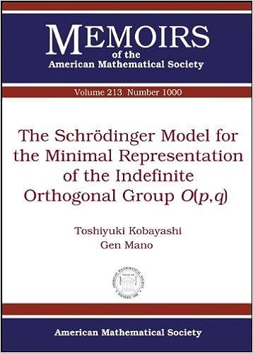 amazon the schrodinger model for the minimal representation of the