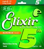 Elixir® Strings Nickel Plated Steel with NANOWEB® Coating, Custom Bass 5th String Single, Light B, Long Scale (.130)