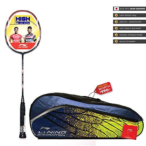 Li Ning SS G4 Series Carbon Graphite Strung Badminton Racquet with Free Kit Bag