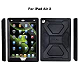 kraken ipad 2 case - iPad Pro 9.7 Case, iPad Air 2 Cover Case, OLG Premium TPU [Shockproof] [Heavy Duty] High Impact Bumper Case with Kickstand for Apple iPad Air 2/iPad Pro 9.7 inch Tablet, Black