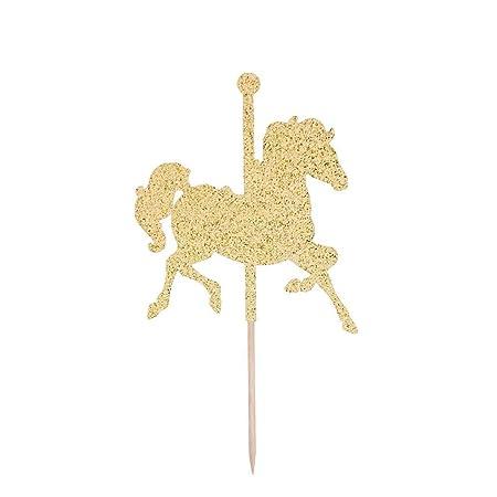 Decoración para cupcakes con diseño de caballo de Carousel ...