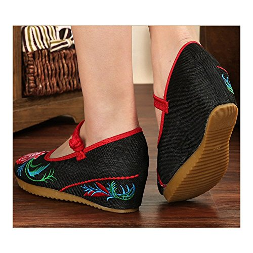 Slipsole 40 Embroidered black Cloth Beijing Shoes Old qgPpAR