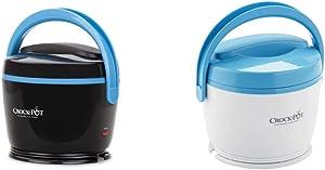 Crock-Pot SCCPLC200-BK-SHP Slow Cooker, Small, Black & Crock-Pot Lunch Crock Food Warmer, Blue