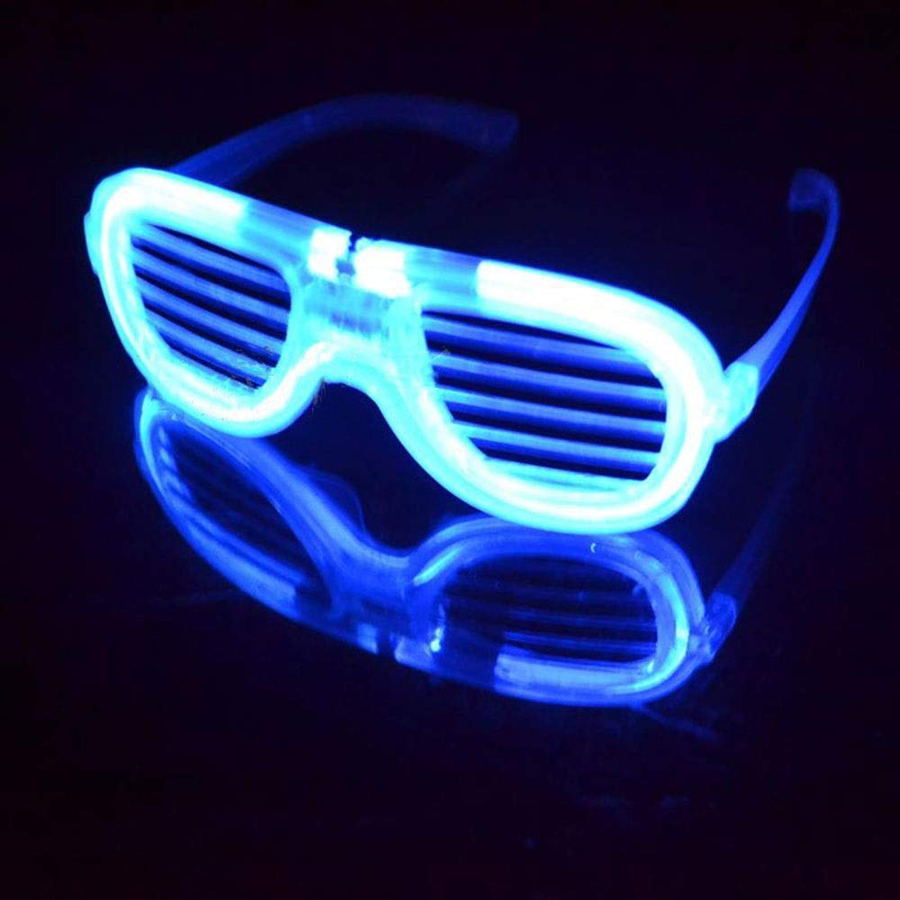 LYX LED Lights Flash Glasses, Judy Glasses Toys Blinds Cold Light Luminous Glasses Nightclub Concert Party Festival (Color : Blue) by LYX