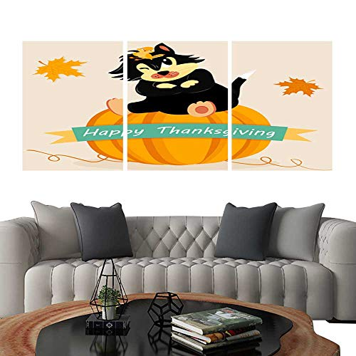 UHOO Triptych Art SetHoliday Card for Thanksgiving Day