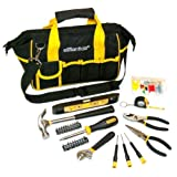OEMTOOLS Great Neck 21044 Essentials Around The House Tool Set in Black Bag