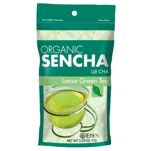 (Eden Organic Sencha Green Tea Loose, Reclosable Pouch, 2.25-Ounce Pouch (Pack of)