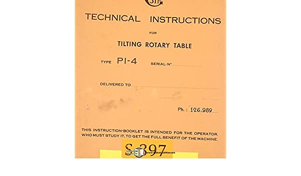 Sip Pi 4 And Pi 5 Tilting Rotary Table Technical Instructions