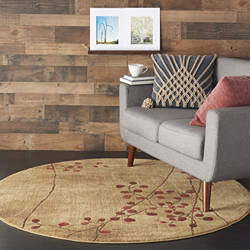 Nourison Somerset (ST74) Latte Brown Round Area Rug, 5'6