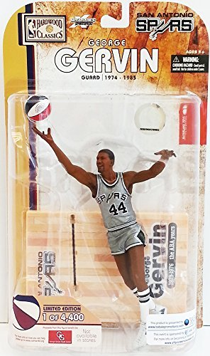 McFarlane Toys NBA Sports Picks Legends Series 4 Action Figure George Gervin (San Antonio Spurs) Limited Edition ABA Silver - George Gervin Spurs