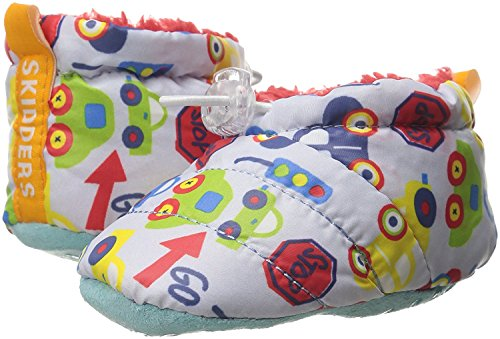 Skidders Puffy Booties Baby Boots Boys, 1 Pack - Boys - Baby Blue Cars, 24M