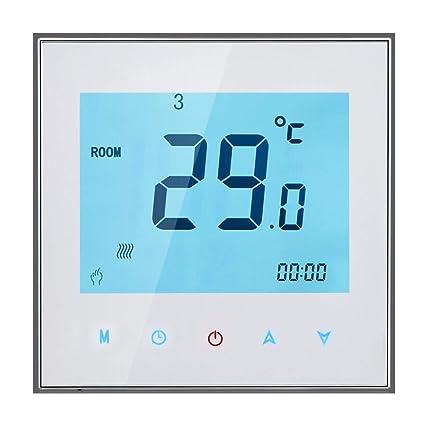 Smart WiFi Caldera Termostato de calefacción Temperatura programable Controlador táctil Termorregulador 3A 95-240V,