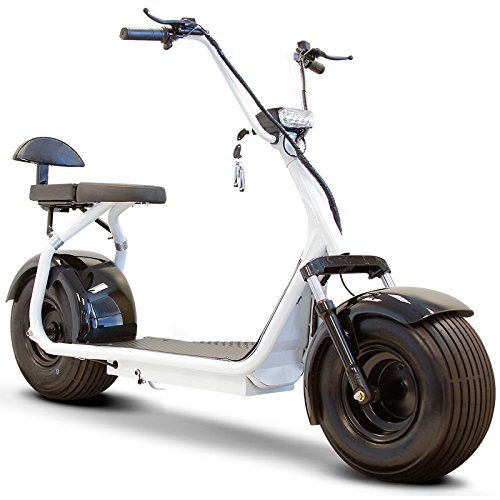 Fat Tire Electric Scooter in White