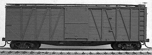 40' Single-Sheathed Wood Boxcar w/Wood Doors & Steel Ends - Kit -- Undecorated ()