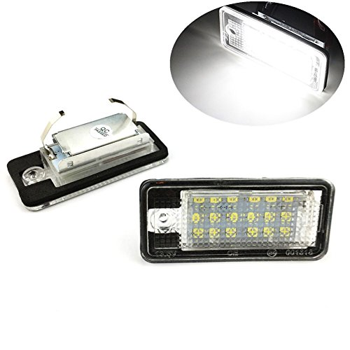 Lightdu License Plate Lights LED Lamps for Audi A3 A4 A6 A8 S6 Q7 RS4 RS6 (2Pcs)