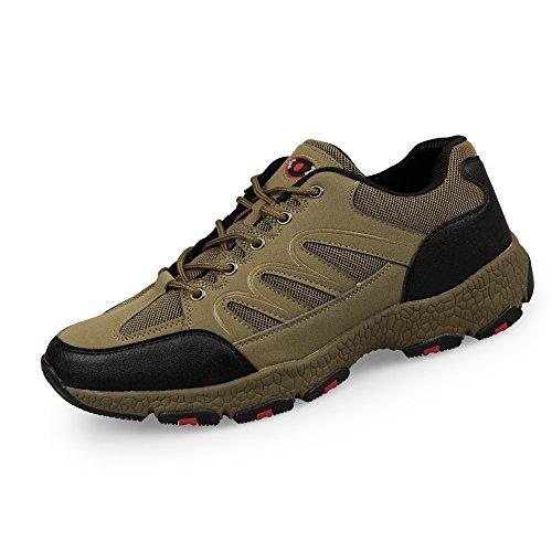 薬を飲むアトミック影響力のあるMERLIN 6CM UP メンズ シークレット トレッキングシューズ ミッドカット スエード 登山靴 ダイヤル 防水 透湿 通気性 耐磨耗 衝撃