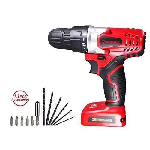 Check Out This Cordless Drill ScrewDriver WORKSITE CD324 8V 1300mA Lithium-Ion Battery Powerful Elec...