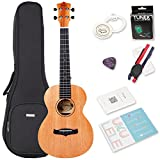 """Image of Concert Ukulele Bundle with Bag and Tuner, Strap, Spare Aquila Strings,Polishing Cloth, 2 Pins Installed, Instructional Book, Mahogany Solid Top, KUC-25D(Concert 23"""")"""