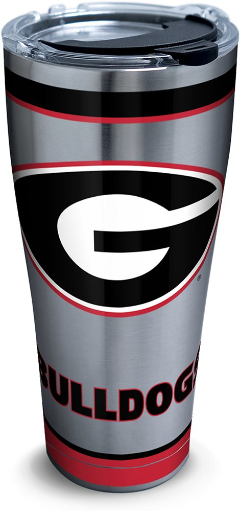 Tervis 1297297 Georgia Bulldogs Tradition Stainless Steel Tumbler With Lid, 30 oz, Silver