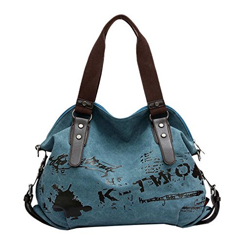 Clearance!! Duseedik Women's Designer Canvas Totes Crossbody Shoulder Bag Double Top Handle Shoulder Tote Shopper Handbag ()