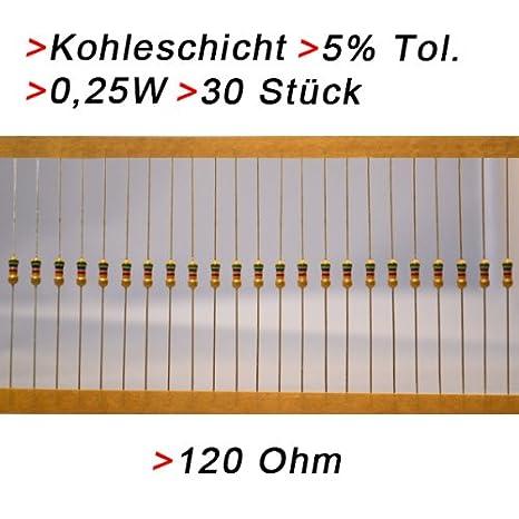 50 Widerstände Widerstand 1k Ohm 0,25W LEDs LED an 24V