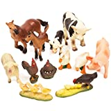 BOLEY (12-Piece) Farm Animal Figurine Collection - Realistic Looking Farm Animals Ranging From Horses, Cows, Chickens, Sheep, Pig and Geese