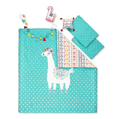 South Shore DreamIt Full Kids Bedding Set Festive Llama, Turquoise and Pink (Sets Cheap Bedding Online)