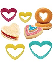 Metaltex Heart Shape Nesting Cookie Cutters in Assorted Sizes, Set of 4, Multi-Colour, Stainless Steel