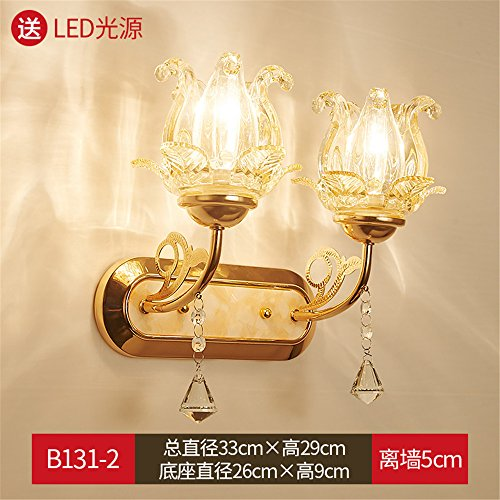 DengWu Wall Sconce Continental wall lights bedroom bed lamps living room wall glass base Europe creative personality hallway hotel Lamps