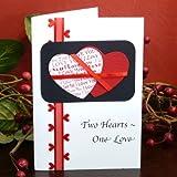 Handmade Two Hearts-One Love Card, Health Care Stuffs