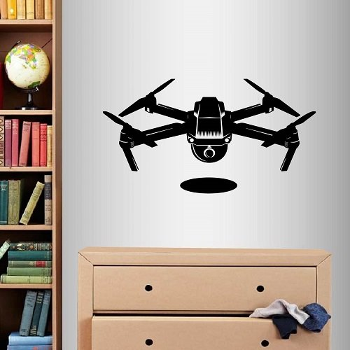 In-Style Decals Wall Vinyl Decal Home Decor Art Sticker Drone with Camera Robot Technology Kids Bedroom Living Room Removable Stylish Mural Unique Design 2081