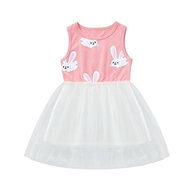 K-youth Vestido Bebe Niña, Tutú Princesa Vestido de Niña Ropa Bebe ...