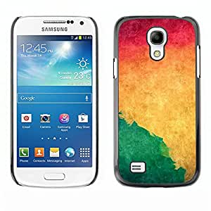 TECHCASE**Cubierta de la caja de protección la piel dura para el ** Samsung Galaxy S4 Mini i9190 MINI VERSION! ** Watercolor Green Liquid Dynamic Wallpaper Yellow
