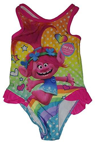 (Fashion Toddler Girls Trolls 1 Piece Swimsuit - 4T,Pink)