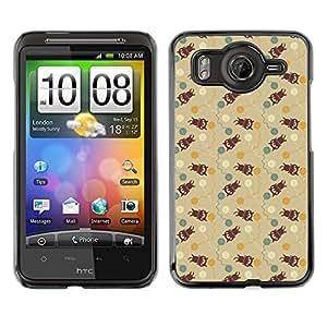 ZECASE Funda Carcasa Tapa Case Cover Para HTC Desire HD G10 No.0000111