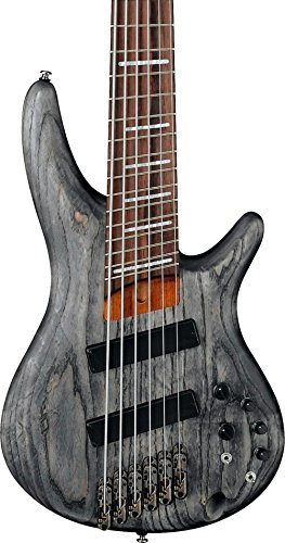 Ash Bass (Ibanez Bass Workshop SRFF806BKS Multi-Scale - Black Stained Ash)