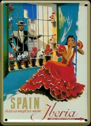 Iberia Spain España mini-diseño de chapa Post tarjeta - 8 x 11 cm ...