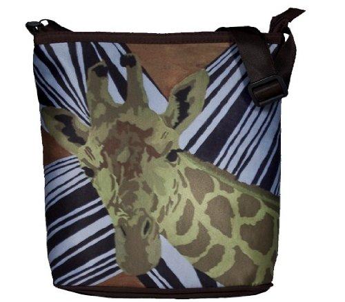 Zebra Print Bucket Bag (Animal Print, Giraffe, Small Cross Body Handbag - Support Wildlife Conservation, Read How)