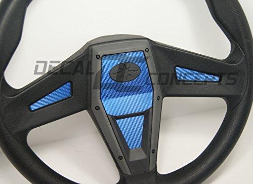 Polaris RZR 1000 Xp Blue Carbon Fiber Steering Wheel Inlay Decal Kit Xp1k General