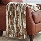 Stone & Beam Marble Faux Fur Throw Blanket, Soft and Luxurious, 80