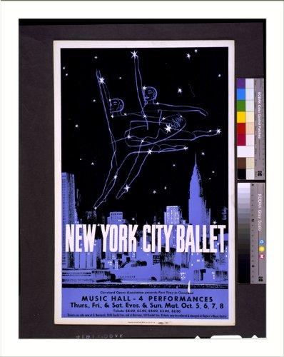 Historic Print (L): New York City ballet Cleveland Opera Association presents...